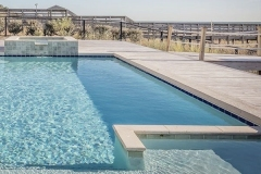 architects in mallorca for the construction of natural stone swimming pools